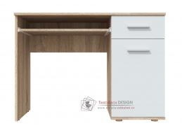 DOMINO, pracovní stůl, dub sonoma / bílá