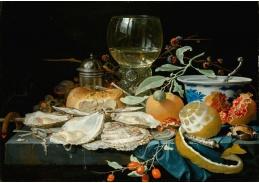 D-5798 Abraham Mignon - Zátiší s pohárem vína, ovocem a ústřicemi