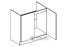 PREMIUM de LUX, dolní skříňka 2-dveřová pod dřez D80ZL, olše