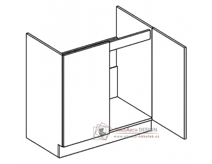 Dolní skříňka pod dřez D80ZL PREMIUM de LUX olše