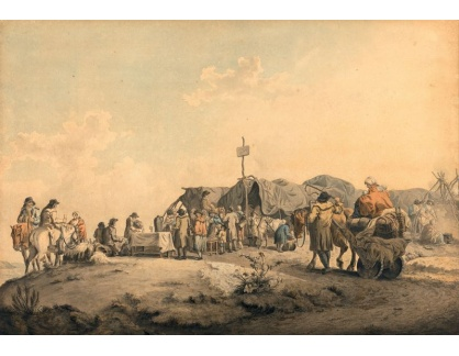 Slavné obrazy III-13 Francis Wheatley - Trh v Donnybrook