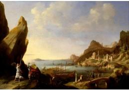 Slavné obrazy XI-92 Bartholomeus Breenbergh - Pobřežní krajina