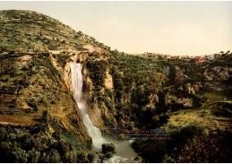 Fotochrom VF 102 Vodopády v Tivoli, Itálie