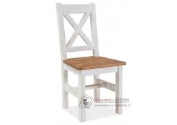 POPRAD, jídelní židle, ořech / borovice bělená