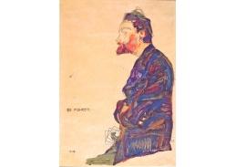 VES 106 Egon Schiele - Portrét Maxe Kahrera z profilu