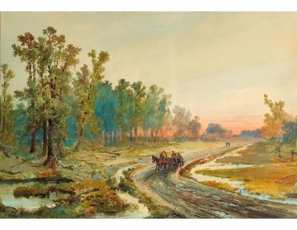 Slavné obrazy IX DDSO-965 Nikolaj Nikolajevič Karazin - Krajina při západu slunce