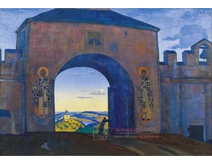 Krásné obrazy VI-120 Nikolaj Konstantinovič Rerich - Otevírající se brána