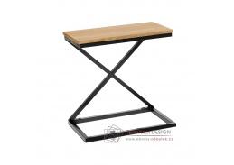 APIA, příruční stolek, černá / dub