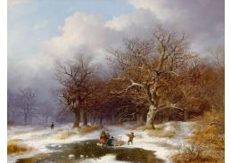 D-6535 Remigius van Haanen - Sběr dříví v zimě
