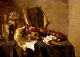 D-9470 Jacques de Claeuw - Vanitas s lebkou a houslemi