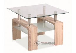 Konferenční stolek LISA D BASIC dub sonoma / sklo