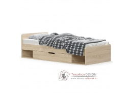 TEYO, postel s úložným prostorem 90x200cm 1S, dub sonoma