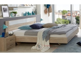 PAMELA 351, postel 160x200cm, řezaný dub
