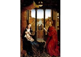 VSO591 Lukas van der Weyden - Madonna a svatý Lukáš