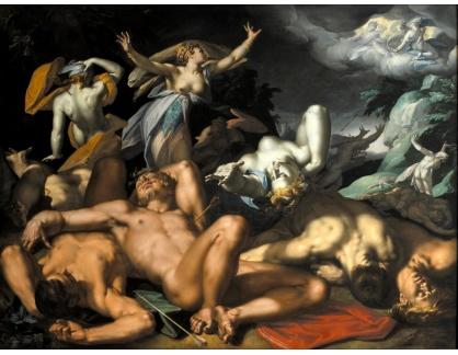 KO III-1 Abraham Bloemaert - Apollo a Diana trestající Niobe