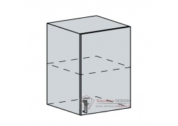 ANASTASIA, horní skříňka 1-dveřová 60H1D, bílá / ořech