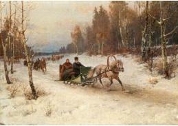 DDSO-4208 Rudolf Fedorovič Frentz - Jízda na saních v zimě