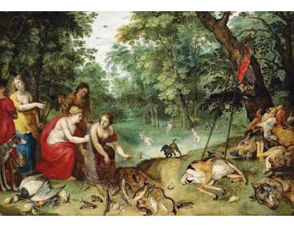 BRG-10 Jan Brueghel a Hendrick van Balen - Diana a její nymfy po lovu