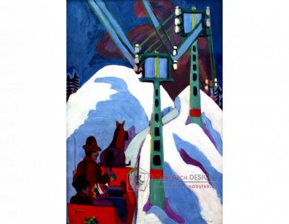 VELK 85 Ernst Ludwig Kirchner - Na saních