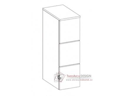 PORTO, koupelnová skříňka závěsná, bílá / bílý lesk