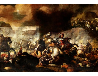 Krásné obrazy IV-12 Jacques Courtois - Bitevní scéna