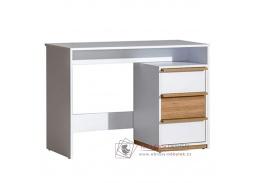 KNOX E14, počítačový stůl, ořech select / bílá