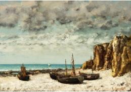 D-7249 Gustave Courbet - Lodě na pláži v Etretatu