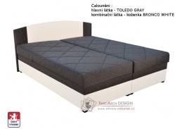 KAPPA, postel 160x200cm, pevně načalouněné matrace