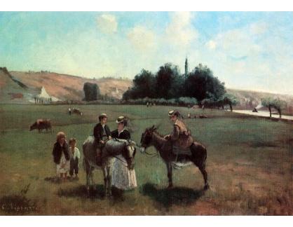 VCP-449 Camille Pissarro - Na oslu a koni v La Roche-Guyon