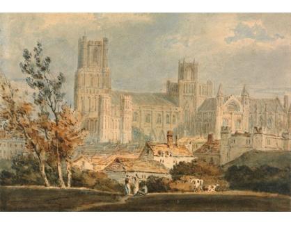 Joseph Mallord William Turner - Vzdálený pohled na Hampton Court