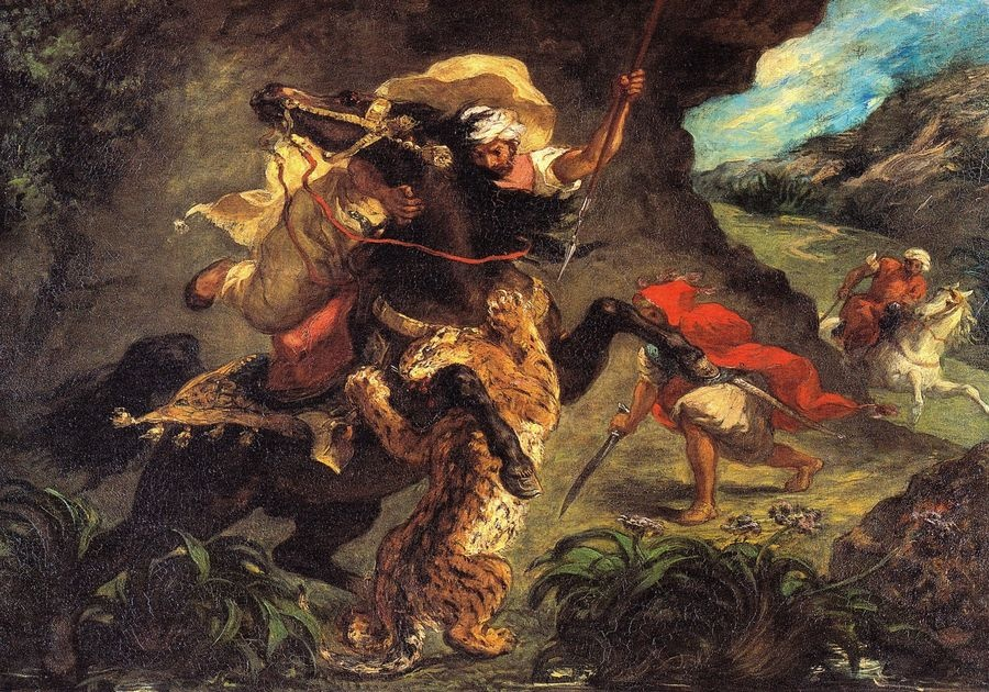 VEF 05 Eugene Ferdinand Victor Delacroix - Lov na tygra