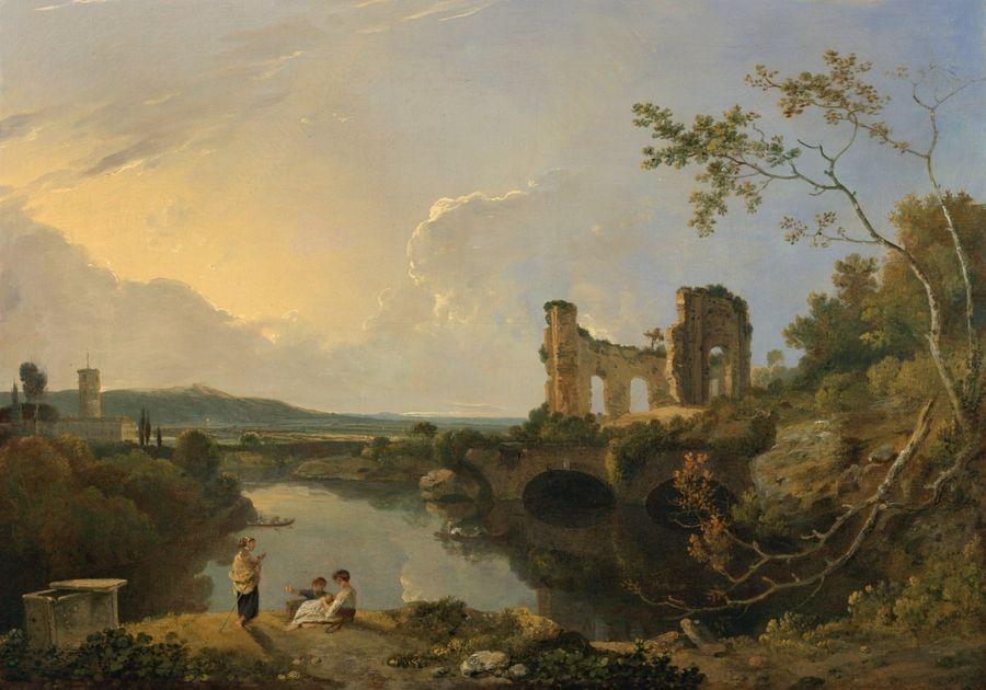 Slavné obrazy XIV- 65 Richard Wilson - Italská krajina