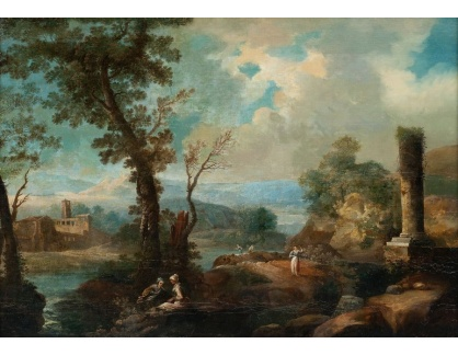 Slavné obrazy XVI-409 Claude Lorrain - Pastorační krajina