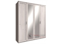 MARGITA 568, šatní skříň 4-dveřová 180cm, dub bílý