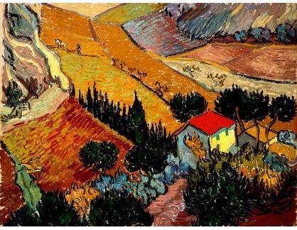 VR2-305 Vincent van Gogh - Krajina s domem a oráčem