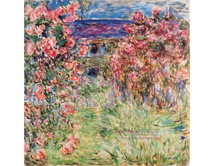 VCM 89 Claude Monet - Dům uprostřed růží