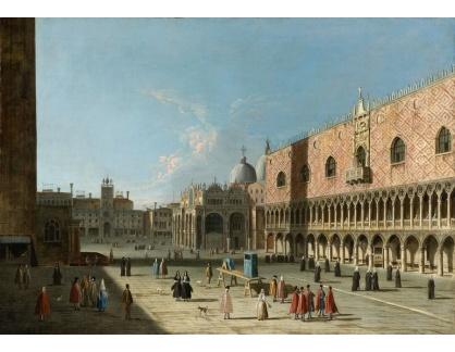 Slavné obrazy XVI-344 Canaletto - Náměstí San Marco v Benátkách