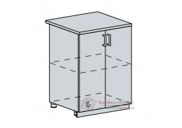 PROVENCE, dolní skříňka 2-dveřová 60D, bílá / vanilka