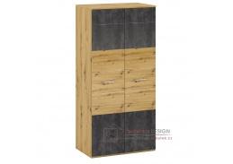ERIDAN Q, věšáková skříň s policí, dub artisan / šedý beton