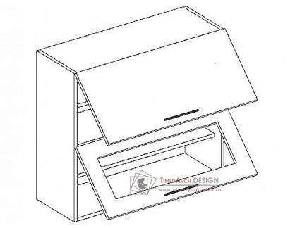 Horní skříňka výklopná W60SP PREMIUM de LUX hruška