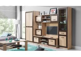 BOSS, Obývací sestava nábytku 1 dub sonoma / dub čokoládový