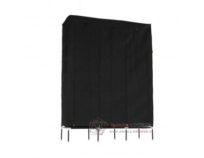 TARON, šatní organizér, kov / látka černá