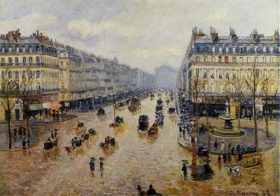 VCP-109 Camille Pissarro - Avenue de l Opera, déšť