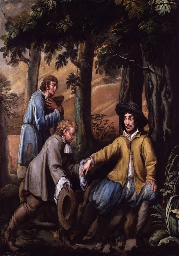 VANG107 Isaac Fuller - Král Karel II v lese Boscobel