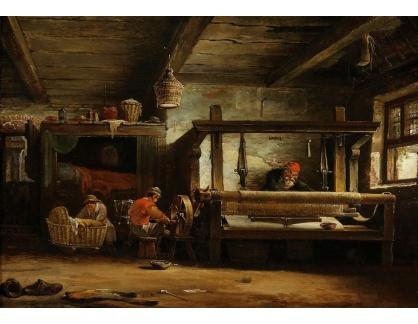 Slavné obrazy III-DDSO-530 Cornelis Decker - V dílně tkalce