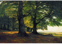 Slavné obrazy VI-116 Ivan Ivanovič Šiškin - Mohutné stromy