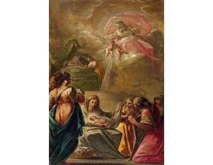 Slavné obrazy XVII-68 Francesco Pla Duran - Zrození Panny Marie