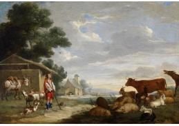Slavné obrazy VIII-173 Jan van Peeter Bredael - Pastýř se stádem