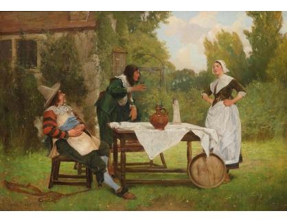 Slavné obrazy XVI-486 Edgar Bundy - Veselá společnost